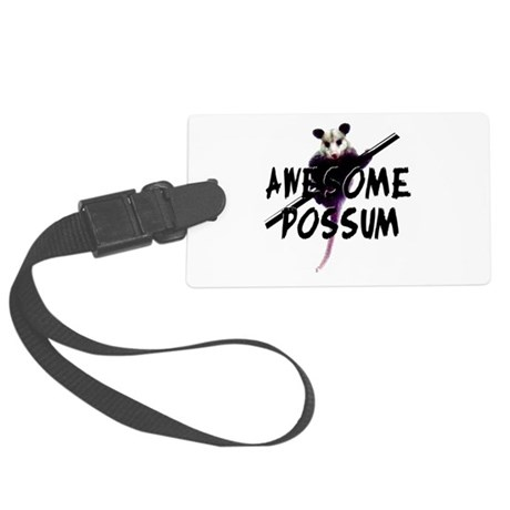 Awesome Possum Large Luggage Tag