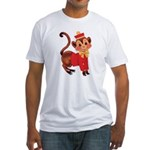 Circus Monkey Fitted T-Shirt
