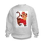 Circus Monkey Kids Sweatshirt