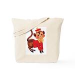 Circus Monkey Tote Bag