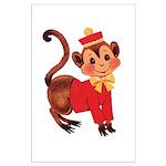 Circus Monkey Large Poster
