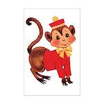Circus Monkey Mini Poster Print