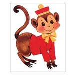 Circus Monkey Small Poster