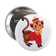"Circus Monkey 2.25"" Button (10 pack)"