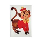 Circus Monkey Rectangle Magnet (100 pack)