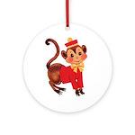 Circus Monkey Ornament (Round)
