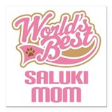 "Saluki Mom Square Car Magnet 3"" x 3"""
