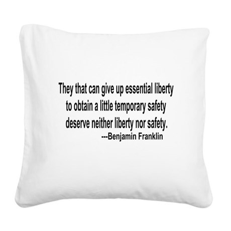 freedoms.png Square Canvas Pillow