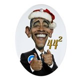 Obama 44 Victory Ornament (Oval)
