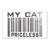 My Cat Priceless Rectangle Decal