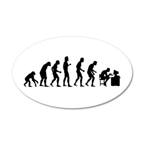 Evolution 20x12 Oval Wall Decal