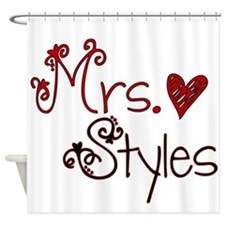 Mrs. Harry Styles Shower Curtain