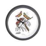 Moth Insects Wall Clock