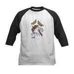 Moth Insects Kids Baseball Jersey