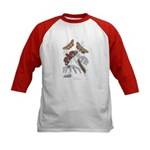 Moth Insects (Front) Kids Baseball Jersey