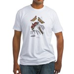Moth Insects Fitted T-Shirt