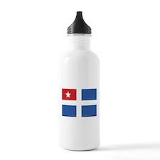 Flag of Crete Sports Water Bottle