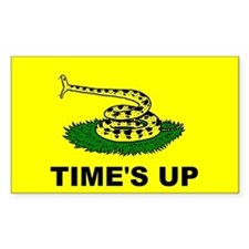 """Time's Up"" flag Rectangle Decal"
