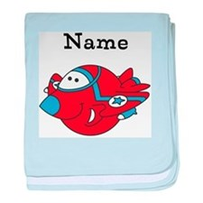 Personalized Fighter Jet Baby Blanket