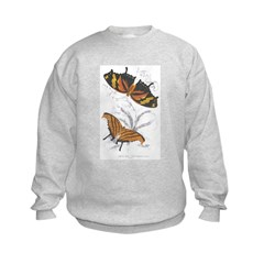 Butterfly Insects (Front) Kids Sweatshirt
