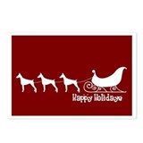 Doberman &quot;Sleigh&quot; Postcards (Package of 8)