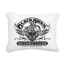 Black Swan Motorcycles Rectangular Canvas Pillow