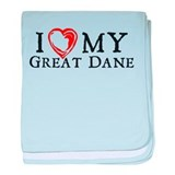 I Heart My Great Dane baby blanket