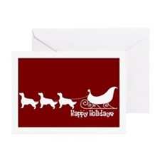 "E Setter ""Sleigh"" Greeting Cards (Pk of 10)"