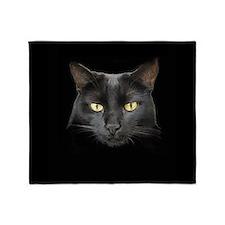 Dangerously Beautiful Black Cat 7 Throw Blanket