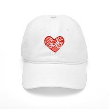 Bicycle Heart Baseball Cap