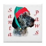 Santa Paws English Setter Tile Coaster