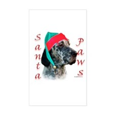Santa Paws English Setter Rectangle Decal