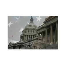 US Capitol 11partiotic Rectangle Magnet
