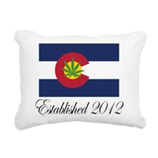 Colorado Cannabis Flag 2012 Rectangular Canvas Pil