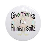 Thanks for Finnish Spitz Ornament (Round)