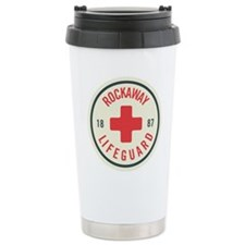 Rockaway Lifeguard Patch Ceramic Travel Mug
