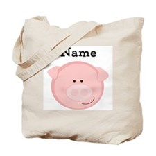 Personalized Pig Tote Bag