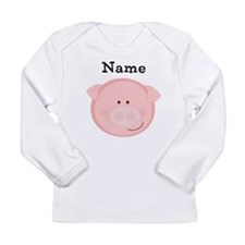 Personalized Pig Long Sleeve Infant T-Shirt
