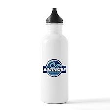 Huntington State Blue Wave Badge Water Bottle