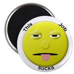 Sad Working Stiff Smiley Magnet