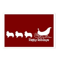 "Sheltie ""Sleigh"" Postcards (Package of 8)"