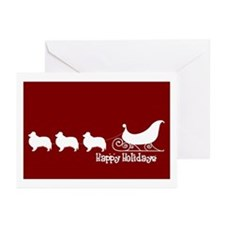 "Sheltie ""Sleigh"" Greeting Cards (Pk of 10)"