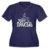 Team Dancer Women's Plus Size V-Neck Dark T-