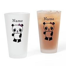 Personalize Panda Girl Drinking Glass