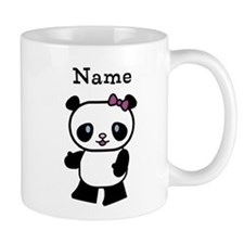 Personalize Panda Girl Small Mug