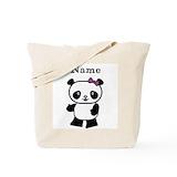 Pandas Canvas Bags