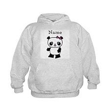 Personalize Panda Girl Hoodie