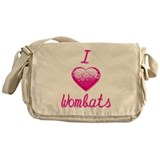I Love/Heart Wombats Messenger Bag
