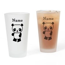 Personalized Panda Drinking Glass