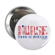 "Nurse made in America 2.25"" Button (100 pack)"